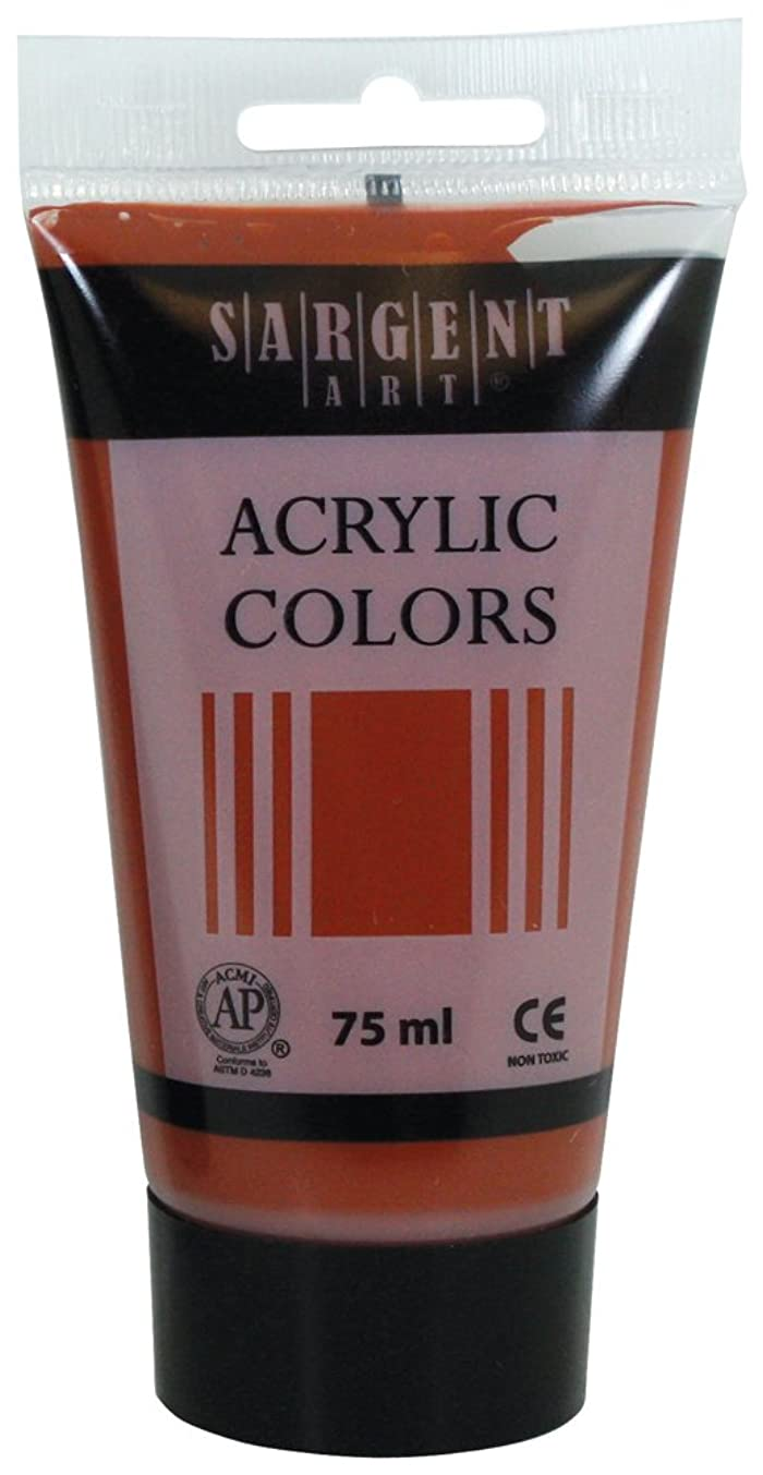 Sargent Art 23-0290 75Ml Tube Acrylic Paint, Burnt Sienna