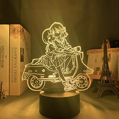 Lámpara de noche 3D Anime ilusión lámpara Anime Töte La Kill Ryuko Matoi Luz nocturna LED para dormitorio decoración regalo Nightlight Anime 3D lámpara Ryuko Matoi Kill La Trolle ZMSY