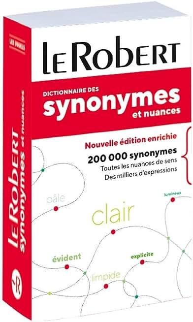 Dictionnaire des synonymes et nuances - poche