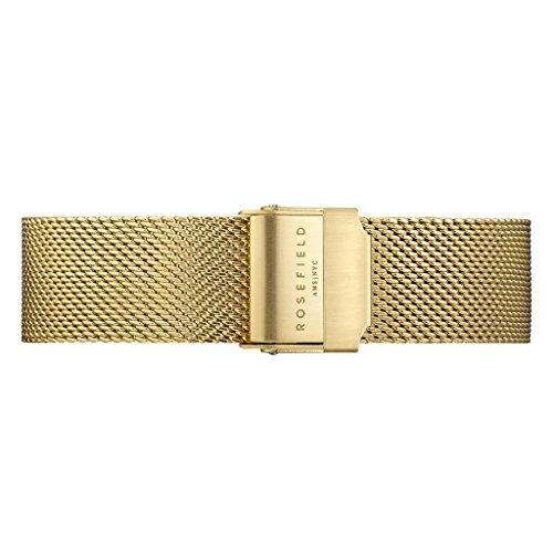 Rosefield Stainless Steel Gold Watch Strap, 16 (Model: TMGSS126)