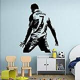Fútbol Deportes Fútbol Estrella Jugador Cristiano Ronaldo CR7 Dominante Celebrar Gol Etiqueta de la pared Vinilo Calcomanía para autos Niños Fans Dormitorio Sala de estar Club Decoración par