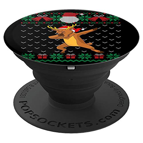 Dabbing Reindeer, Ugly Christmas Sweater Xmas Dab Kids Boys PopSockets Grip and Stand for Phones and Tablets