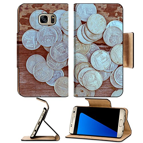 Luxlady Premium Samsung Galaxy S7 EDGE Flip Pu Leather Wallet Case IMAGE ID 31639297 Vintage Money growth Deposit your budget for investment in the future