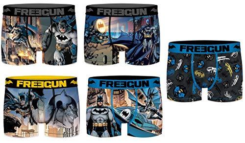 Freegun underwear. - Boxer Freegun Homme CoBranding DC Comics: Batman, Superman, Flash. en Microfibre -Assortiment modèles Photos Selon arrivages- Pack de 5 Boxers M