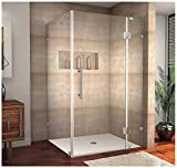 Aston Avalux Completely Frameless Shower Enclosure, 42' x 36' x 72', Brushed Stainless Steel