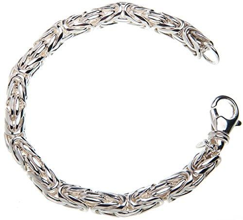 Königskette Armband, rund 8mm - Länge 20cm, 925 Silber