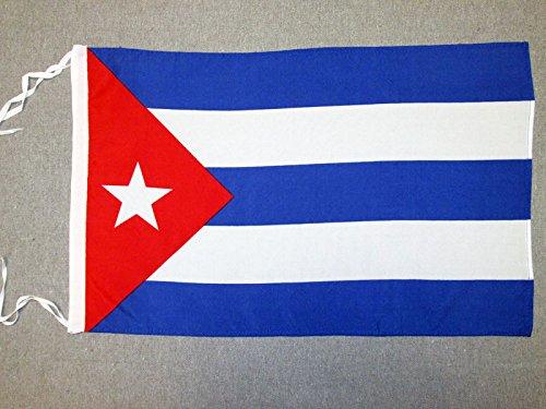 AZ FLAG Flagge Kuba 45x30cm mit Kordel - KUBANISCHE Fahne 30 x 45 cm - flaggen Top Qualität