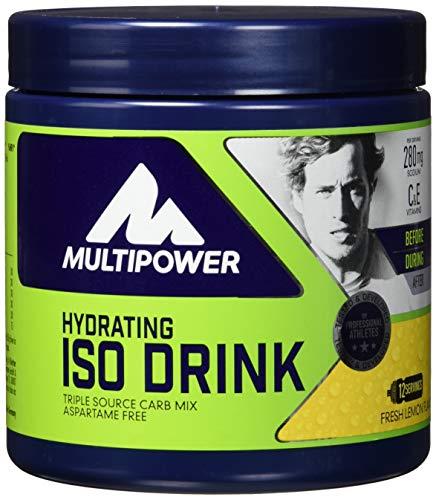 Multipower Hydrating Iso Drink (isotonisches Getränkepulver mit L-Carnitine, Sportgetränk ohne künstliche Süßstoffe) Fresh Lemon, 1er (1 x 420 g)