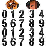 20 Piezas Números de Buzón 0 - 9 Números de Casa Números de Puertas Autoadhesivos Números Buzón Reflectantes para Casa Buzón (Negro, 3 Pulgadas)