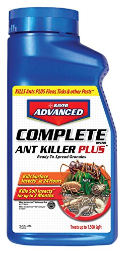 Bayer Advanced Complete Ant Killer Plus Science-Based Solutions Kills Fleas, Ticks, Spiders & Cockroaches, 1.5-Pound, Granules