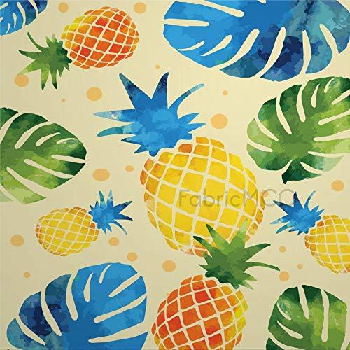 daoyiqi Juego de adhesivos decorativos para azulejos, diseño floral, fruta, piña, ananas, planta de 4 x 4 pulgadas, vinilo adhesivo para suelo de azulejos de vinilo resistente al agua, 12 unidades