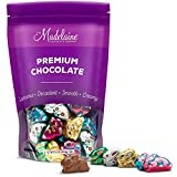 Madelaine Highly Detailed, Bite-sized, Solid Premium Milk Chocolate Easter Sitting Bunnies Wrapped In Colorful Italian Foils (1 LB)