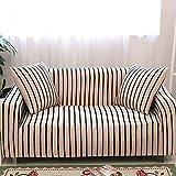 HM&DX Algodón Elástico Funda para sofá,Punto Raya Antideslizante Cubre sofá 1-Pieza Cubierta del sofá Muebles Protector para el salón-S sofá