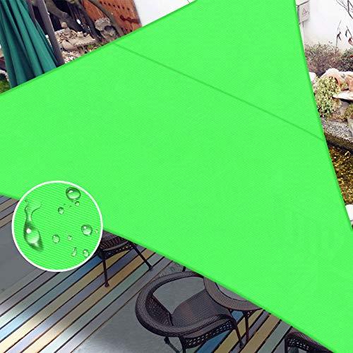 LOVE STORY Toldo impermeable de 12 x 12 x 12 pies triángulo verde toldo de vela resistente a los rayos UV para patio al aire libre jardín patio trasero