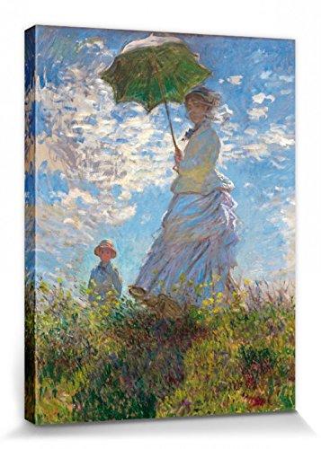 1art1 Claude Monet - Camille Monet Und Sohn Jean Auf Dem Hügel 1875 Cuadro, Lienzo Montado sobre Bastidor (40 x 30cm)