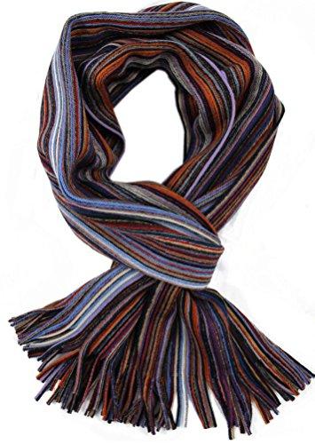 Rotfuchs Strickschal Raschelschal Streifen modisch violett bunt 100% Wolle (Merino) R-33