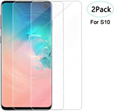 Glass Screen Protector for Samsung Galaxy S10, 3D Curved Tempered Glass [2 Pack] Fingerprint Compatibles Case Friendly Clear HD Anti-Scratch with Lifetime Replacement