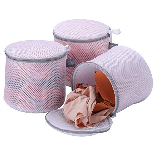 Paquete de 3 bolsas de lavado delicadas para sujetador – Bolsa de ropa interior de tela sándwich de alta permeabilidad – Bolsa de ropa interior para latón, calcetines, panty, ropa interior