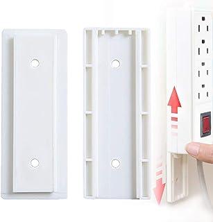 RychUI 2 juegos Power Board soporte, regleta – Soporte de pared – Organizador de cables autoadhesivo para mesa de ordenador, organización de paredes de TV, cocina, en casa o en la oficina