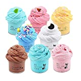 8 Pack Butter Slime Kit Party Favors with Candy Slime, Oreo Slime, Watermelon Slime, Coffee Slime, Lemon Slime and Mint Slime, Soft Non-Sticky Birthday Gifts for Kids Girls Boys (Multicolor)