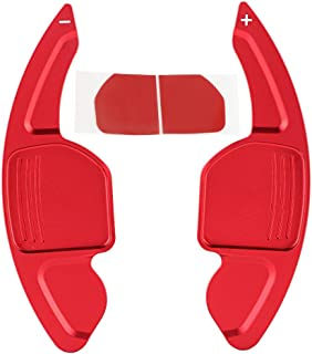 Duokon 2pcs Aluminum Alloy Car Steering Wheel Shift Paddle Blade Shifter Extension for A3 A4L A5 A6 A7 A8 Bright Red Color Accessories