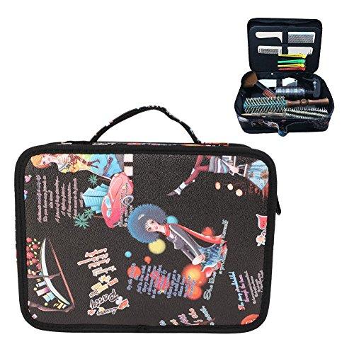 Hairdresser Bag, Hair Accessories Organiser Professional Hairdressing Hair Equipment Tools Bag Salon Scissors Combs Brushes Kit Portable Storage Handbag