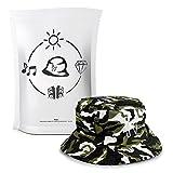 Huebi Bucket Hat/Fischerhut - Modern und stylisch durch den Sommer, M,  Camouflage