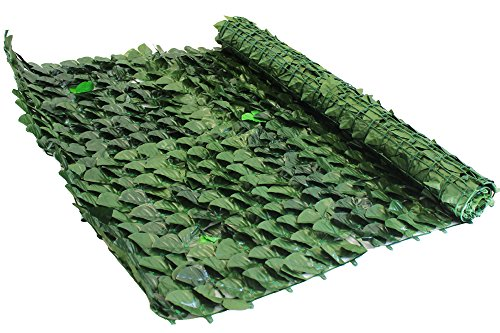 Siepe sintetica giardino con foglie di edera Cm 1,5x3 m Evergreen Edera