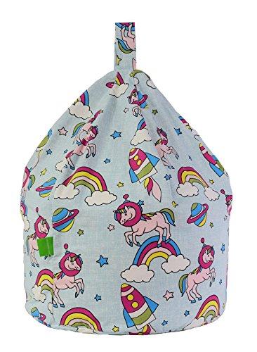 Cotton Space Unicorn Pastel Rainbow Bean Bag