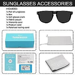 CHEREEKI Mens Polarised Sunglasses, Polarized Sunglasses for Men Women with UV400 Protection and Ultralight Frame (Black) #5