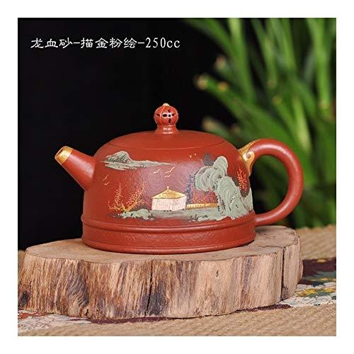 HePing Wu Dracaena Sand - vergoldet gemalt Teekanne Teekanne Tee-Pulver (Color : 250cc)