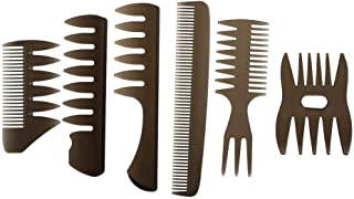 zroven 6pcs Hair Combs Detailing Brush Hair Comb Set Shaping Wet Pick Barber Brush Tools Best Styling Comb for Men Women H...
