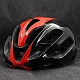 CascosDeEsquí Casco de bicicleta de carretera Aero rojo Casco de ciclismo Casco de bicicleta de montaña MTB Capacete Casco de bicicleta de seguridad deportiva exterior mate-14_L 59-62cm