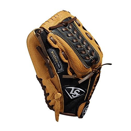 Louisville Slugger 11.5-Inch FG Genesis Baseball Infielders Glove, Brown, Left Hand Throw