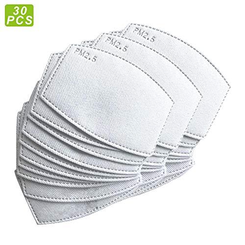 【30 UNIDADES】Recambios de filtros de carbón activado PM2.5 antiniebla, filtro de papel, con 5 capas exactas