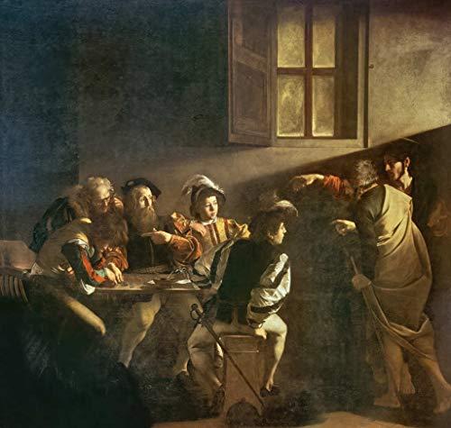 kunst für alle Art Print/Poster: Michelangelo Merisi da Caravaggio Calling of St Matthew Picture, Fine Art Poster, 39.4x37.4 inch / 100x95 cm