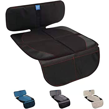 Funbliss Car Seat Protector for Baby Child Car Seats - Auto Seat Cover Mat for Under Carseat with Thickest Padding to Protect Leather & Fabric Upholstery