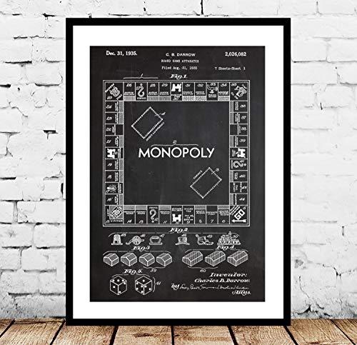 Monopoly Poster Monopoly Monopoly Monopoly Monopoly Art Monopoly Blueprint Monopoly Wall Art Board Game p1442