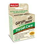 Gargle Away Comprehensive Throat Care, 6-PK | Natural Sore Throat Remedy, Mucus Relief, Singer's...