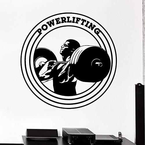 fdgdfgd Gewichtheben Tastatur Wandtattoos Bodybuilding Fitness Sport Türen und Fenster klebrige Aufkleber Trainingsraum Fitnessstudio Innendekoration Wandbild