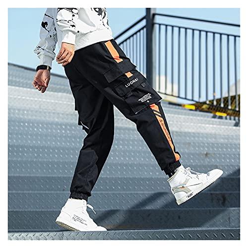 PantalóN Cargo Para Mujer PantalóN Punk Streetwear Hip Hop Cargo Pantalones de carga for hombre estilo militar joggers pantalones hombres bolsillo bolsillo pantalones casuales harén pantalones
