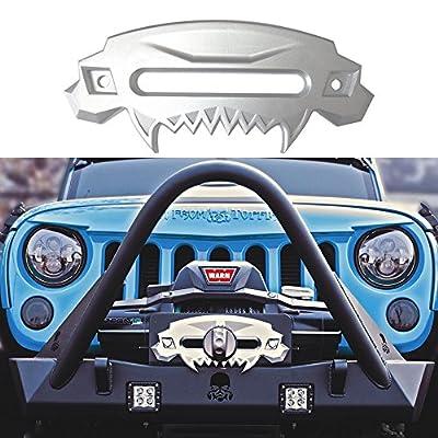 SXMA Universal Beast Front Bumper Aluminum 4x4 Hawse Fairlead Synthetic Winch for SUV Jeep Wrangler Rubicon Sahara Sport JK JKU Car Auto Accessories