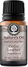 Cedar Leather Fragrance Oil 10ml for Men's Cologne, Diffuser Oils, Making Soap, Candles, Lotion, Home Scents, Linen Spray and Lotion