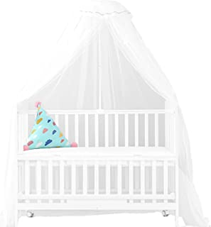 MJL Baby Cot Bed Canopy, Full Cover Bed Net Mosquito Insect Bug Protection, Hanging Mesh Netting for Hammocks Cribs Single...