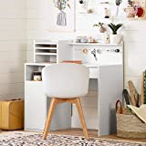 South Shore Crea Craft Table wth Hutch-Pure White