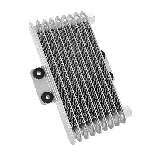 Radiador de enfriamiento del refrigerador de aceite del motor 125ml para la bici ATV de la suciedad de la motocicleta 125CC-250CC(Silver)