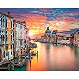Diopn 5D Diamant Painting Envío Gratis Bordado De Diamantes Venecia Water Town Costura Punto De Cruz Set Completo Diamante Diy