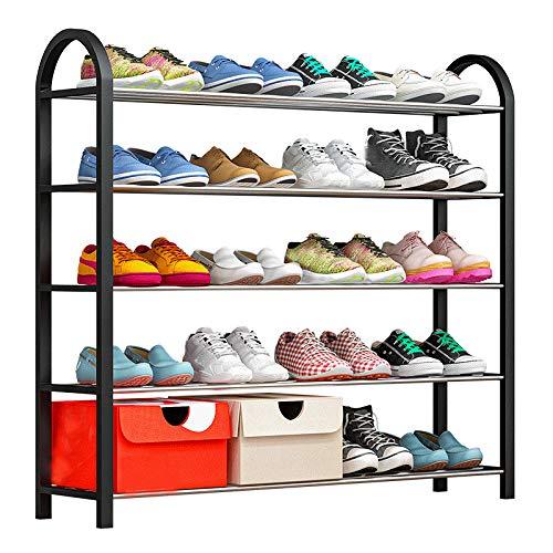 LZYMSZ Zapatero con 5 niveles, organizador de zapatos, de metal, para 20 pares de zapatos, 76 x 19 x 71 cm
