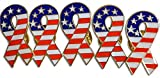 Novel Merk Patriotic American Flag & Cinta–o Sombrero Pin de Solapa y Tie Tack Set con Embrague por Parte