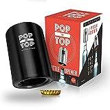 Pop-the-Top Beer Bottle Opener (Black): Automatic Bottle Opener, No Damage to Cap   Fun Bartender Tool   Push Down Decapitator Bottle Cap Opener by TaZa